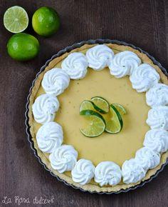 Tarta de lima sin lactosa Fondant Icing, Sweet Tarts, Edible Art, Sin Gluten, Let Them Eat Cake, Birthday Cake, Sweets, Cookies, Desserts