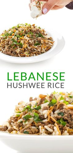 Hushwee rice is a beef and rice mixture made with cinnamon, toasted pine nuts and rice pilaf cooked in clarified butter. An easy one-pan meal. Gluten Free Recipes For Dinner, Best Gluten Free Recipes, Popular Recipes, Dinner Recipes, Healthy Recipes, Dinner Ideas, Side Dish Recipes, Rice Recipes, Casserole Recipes