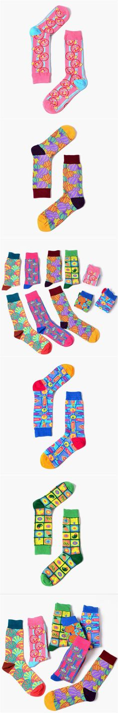 New brand Men Casual Combed Cotton Socks Colorful Casual Crew Socks For Christmas Gifts happy skateboard long socks