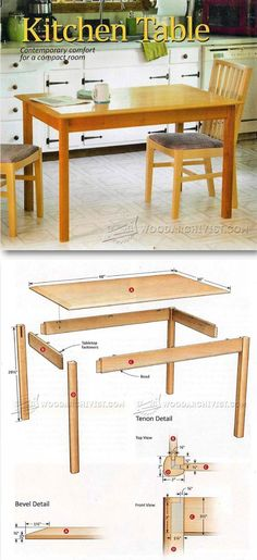 Kitchen Table Plans - Furniture Plans and Projects | WoodArchivist.com