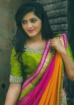 Raw silk blouse