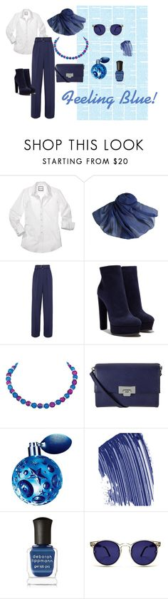 """Feeling Blue"" by eternal-collection ❤ liked on Polyvore featuring Roksanda, Casadei, Capri Blue, Lodis, Thierry Mugler, Chanel, Deborah Lippmann and Spitfire"