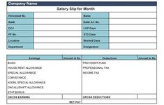 """Are you looking for """"Salary Slip Format in Excel""""? This post will help to solve issues of financial planning regarding maintaining employee's salary slip. Payroll Template, Invoice Template, Templates, Invoice Format In Excel, Create Invoice, Action Plan Template, Accounting And Finance, Deduction, Paper Book"""