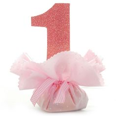1st Birthday Girl - Pink Party Bag Favour
