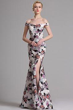 eDressit Off Shoulder Printed High Slit Prom Evening Dress (00163568)