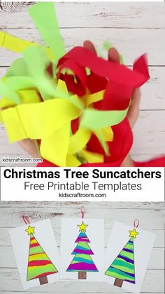 Preschool Christmas Crafts, Christmas Arts And Crafts, Halloween Crafts For Kids, Xmas Crafts, Christmas Gifts, Christmas Crafts For Preschoolers, Christmas Tree Paper Craft, Easy Christmas Crafts For Toddlers, Christmas Art For Kids