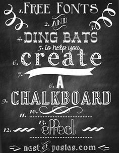 Free Chalkboard Fonts & Dingbats - Photoshop NOT required!