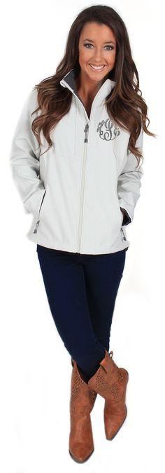 Monogrammed Soft Shell Matrix Jacket
