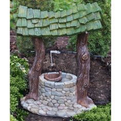 Wishing Well Garden Planter Feature   Washing Machine Drum, Planters And  Plants