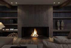I've got fireplaces on the brain...nice, clean-lined, modern fireplaces... #homedesign #lifestyle #style #designporn #interiors #decorating #interiordesign #interiordecor #architecture #landscapedesign
