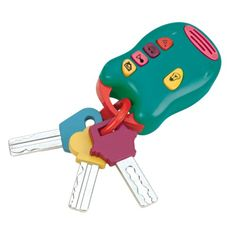 Pour que votre enfant puisse imaginer conduire la voiture et ouvrir la porte... comme les grands ! Sans courir le risque de perdre le vrai trousseau de la maison.