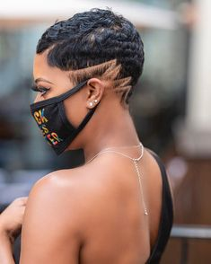 Natural Hair Short Cuts, Short Hair Cuts, Natural Hair Styles, Medium Hair Styles, Curly Hair Styles, Peinado Updo, Shaved Hair Designs, Pelo Afro, Sassy Hair