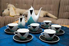 Porcelánová kávová souprava Elka, designér Jaroslav Ježek