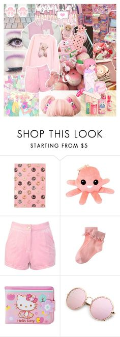 """Not good"" by bandaidkid ❤ liked on Polyvore featuring Hello Kitty, INC International Concepts, Gymboree, cute, pastel, kawaii and fairykei"