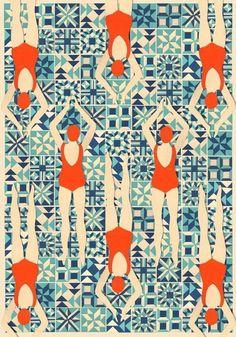 Retro swim & groovy prints