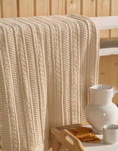 cable knit throw blanket for modern room decorating