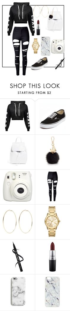 """Roxanne Sneag"" by roxanne-sneag on Polyvore featuring Vans, Mansur Gavriel, Furla, Fujifilm, WithChic, Kenneth Jay Lane, Michael Kors, MAC Cosmetics, Harper & Blake and Skinnydip"
