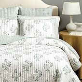 Spa color or gray.  Our Ava Block Print Bedding adds a romantic global feel to your bedroom. The gray quilt is hand-finished of fluffy 100% cotton. Shop Ballard Designs.