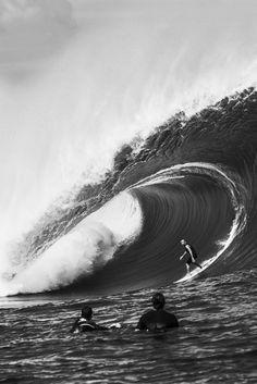 Boom. #surf #stoke Shane Dorian, South Pacific Pic by Brent Bielmann