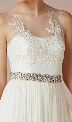 The bodice of this gown is detailed and gorgeous.