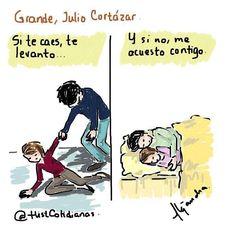 Un día como hoy pero de 1984 muere #juliocortazar  escritor argentino. Aquí una de sus frases. by histcotidianas