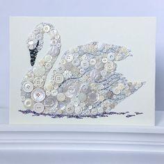 Made to Order cygne blanc bouton Art Art de cygne blanc