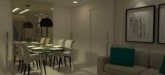 Sala Estar/Jantar - Apartamento Jovem Casal
