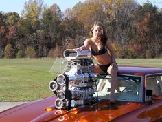 blown gto judge with girl | CLICK -> Here she is sitting on the roof holding the double blower ...