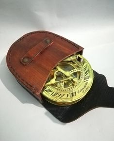 Friendly Nautical Brass Sundial Compass Working Wrist Watch Type Royal Gift At All Costs Antiques