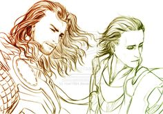 #Loki and #Thor: | M : Avengers : Brothers by *noei1984 on deviantART | Great fan art!