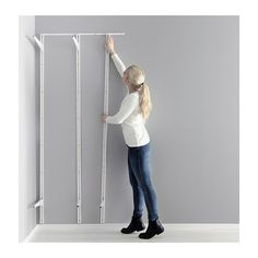 ALGOT Suspension rail IKEA The mounting rail helps you hang ALGOT wall uprights evenly and the right distance from each other.