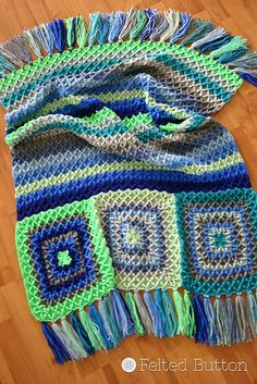 Ravelry: Parrotlet's Flight Blanket pattern by Susan Carlson