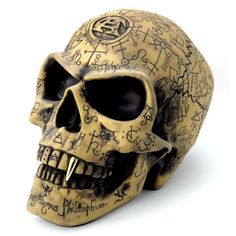 dise/ño de Calavera g/ótica de Halloween Cenicero de fantas/ía St@llion