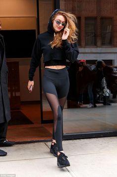 Gigi Hadid steps out in sheer leggings in New York 8048560f84d