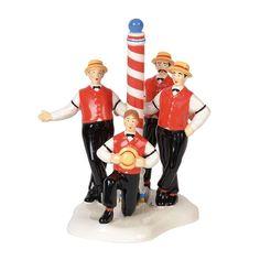 Department 56 Snow Village Flattops Barbershop Quartet Figurine 6000650 New Christmas Ribbon, Christmas Crafts, Christmas Ornaments, Christmas Items, White Christmas, Christmas Tree, Department 56, Villas, Snowman Costume