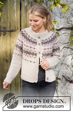Drops Design, Knitting Patterns Free, Free Knitting, Crochet Patterns, Cable Knitting, Fair Isle Knitting, Laine Drops, Norwegian Knitting, Nordic Sweater