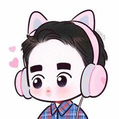 62 Best Ideas For Cookies Cute Illustration Kaisoo, Kyungsoo, Chanyeol, D O Exo, Exo Do, Chibi, Exo Cartoon, Exo Stickers, Exo Anime