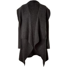DONNA KARAN Charcoal Cashmere Cape ❤ liked on Polyvore
