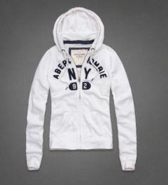Abercrombie Fitch A F Hollister Jenny Hoodie White L Womans Sweatshirt | eBay