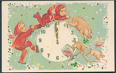 "1961 Denmark ""Happy New Year"" Postcard"