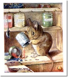 The Tale of Two Bad Mice - 1904 - Hunca Munca Empties Cans