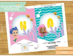 Bubble Guppies Banner Instant Download by PeachyPrint on Etsy