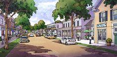 Low Density Commercial District Concept | TPUDC | Town Planning & Urban Design Collaborative