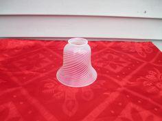 Vintage Fenton Lamp Shade White Opalescent Spiral Optic Swirl #1 | eBay