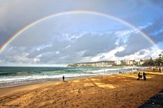 Huge Rainbow over New South Wales, Australia Manly Beach, Somewhere Over, Art And Architecture, Amazing Photography, Airplane View, Places Ive Been, Beautiful Places, Amazing Places, The Good Place