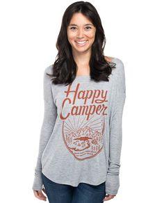 Happy Camper Flowy Long Sleeve Tee – Sevenly