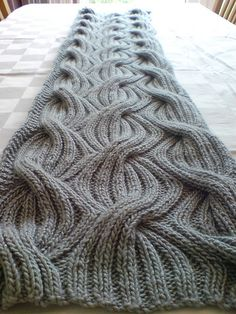 Ravelry: Lunasa's Heidi's bridesmaid shawl knit big ribbed cables