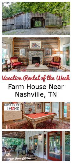 This Tennessee Vacation Rental is Great for Fall Getaways - or holiday home stays at any time of year Nashville Vacation, Tennessee Vacation, Vacation Spots, Vacation Destinations, Vacation Rentals, Vacation Ideas, Travel Usa, Alaska Travel, Viajes