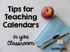 Tips for Teaching Calendars