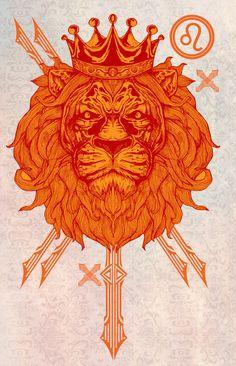♌ Leo on Behance Zodiac Symbols, Zodiac Art, Leo Zodiac, My Zodiac Sign, Leo Constellation Tattoo, Lion And Lioness, Leo Love, Leo Horoscope, Le Roi Lion